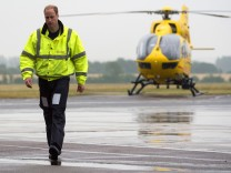 Duke of Cambridge Begins First Shift As Air Ambulance Pilot