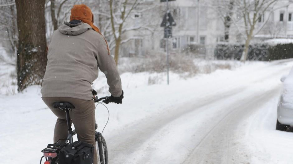 Warum es Radfahrer im Münchner Winter besonders schwer haben