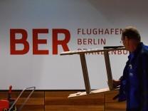 Presserundgang Baustelle Hauptstadtflughafen BER