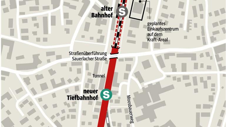 Wolfratshausen neuer bahnhof