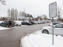Aying, P+R Parkplatz