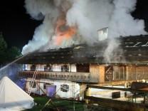 Brand in Schneizlreuth