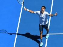 Denis IStomin kaz def Novak Djokovic Ser TENNIS AUSTRALIAN OPEN 2017 antoinecouvercelle panora