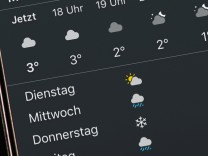 Wetter Apps Smartphone