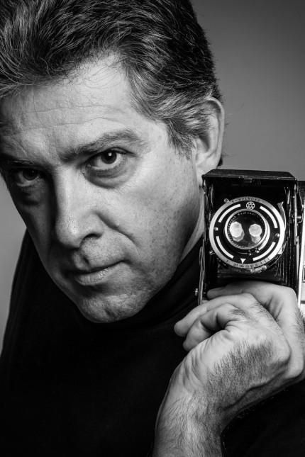 """Marco Pejrolo, italienischer Fotograf, Schauspieler und Regisseur, nur in Zusammenhang mit seiner Ausstellung """"Spiegel der Seele"""" , Gasteig, Januar 2017"""