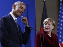 Barack Obama, Angela Merkel, November 2017