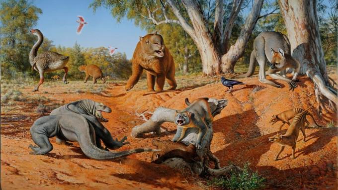 Echsen, Wombats, tonnenschwere Kängurus: Durch Australien streiften einst riesenhafte Tiere. (Foto: Peter Trusler, Monash University)