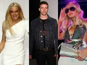 Lindsay Lohan, Justin Timberlake, Paris Hilton, Reuters, Getty, AFP