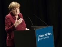 Merkel auf Diözesanempfang des Bistums Würzburg