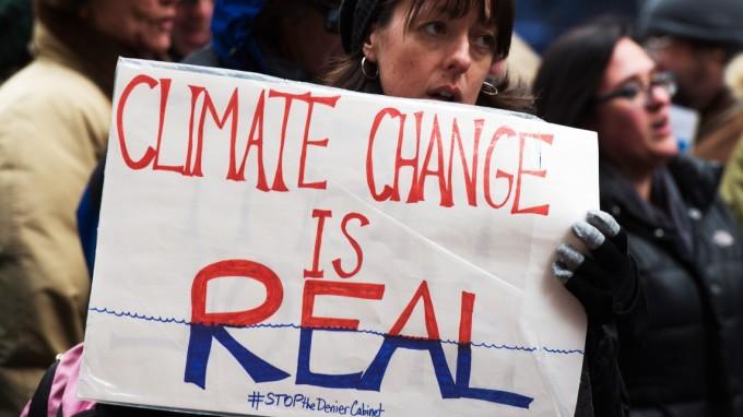 Auf einer Demonstration gegen die Leugnung des Klimawandels in New York vor zwei Wochen (Foto: AFP)