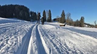 Langlauf Loipe Lenggries Bad Tölz Oberland Voralpen Langlaufen
