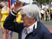 Formula One supremo Bernie Ecclestone before the British Grand Prix at the Silverstone Race Circuit, Britain