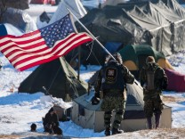 Protests Continue At Standing Rock Sioux Reservation US environment oil pipeline protest