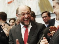 Martin Schulz, Now Chancellor Candidate, Visits SPD Bundestag Faction
