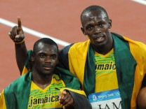 Sprint-Superstar Usain Bolt mit Gold-Staffel von Peking 2008