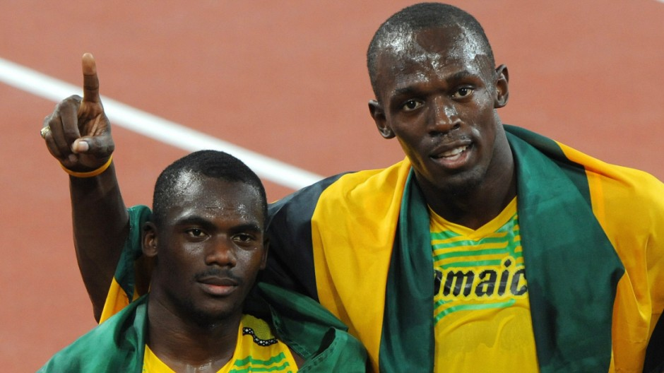Sprint-Superstar Usain Bolt mit Gold-Staffel von Peking 2008