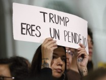 Protest against President-elect Donald Trump in Los Angeles, Cali