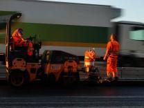 Autobahnausbau der A9 bei Holledau in Bayern, 2016