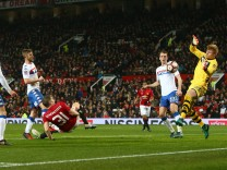 Bastian Schweinsteiger of Manchester United ManU scores his sides fourth goal during the Emirates FA
