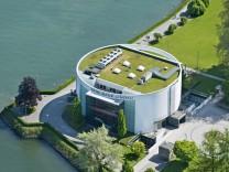 Germany Bavaria Lindau Aerial view of Casino PUBLICATIONxINxGERxSUIxAUTxHUNxONLY SH001114