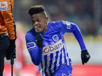 OOSTENDE BELGIUM JANUARY 17 Leon Bailey forward of KRC Genk FOOTBALL Ostende vs KRC Genk Co; Leon Bailey