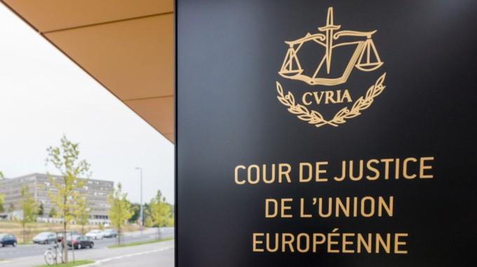 Der Eingang zum Europäischen Gerichtshof in Luxembourg. (Foto: AP)