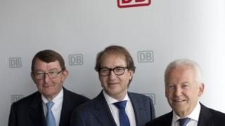 Deutsche Bahn: Aufsichtsratsvorsitzender Utz-Hellmutz Felcht, Verkehrsminister Alexander Dobrindt und der damalige Bahn-Chef Rüdiger Grube