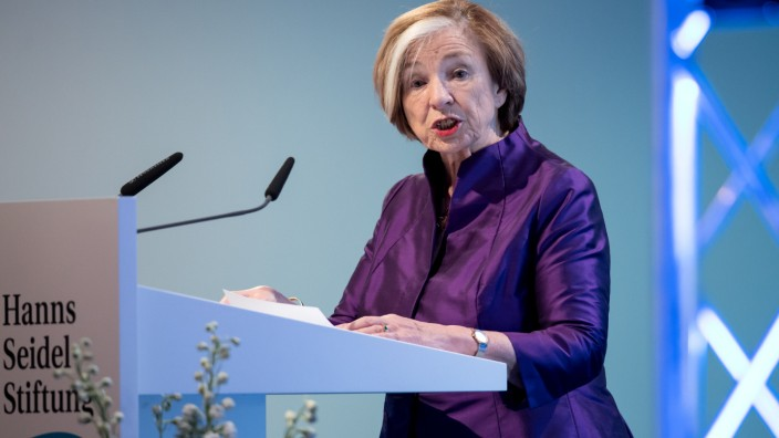 Nur noch bis Ende des Jahres Vorsitzende der Seidel-Stiftung: Ursula Männle.