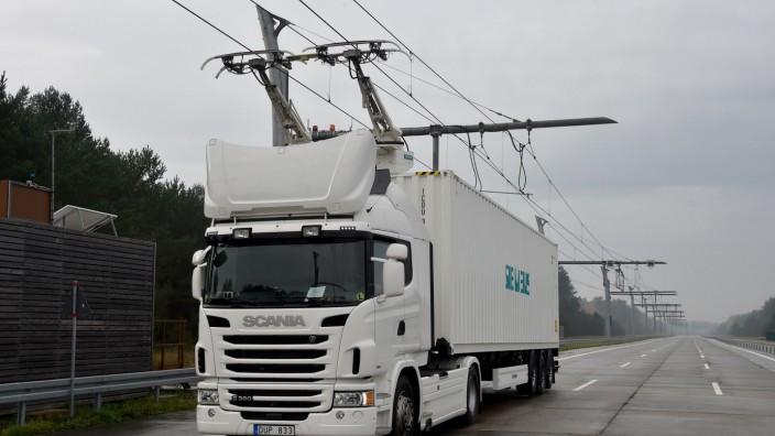 Teststrecke für Elektro-Lkw