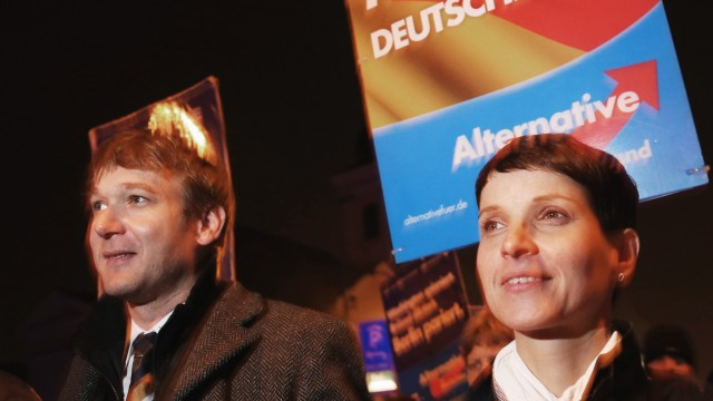 Frauke Petry Speaks To AfD Gathering In Dessau