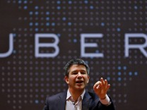 FILE PHOTO Uber CEO Kalanick speaks to students during an interaction at IIT campus in Mumbai