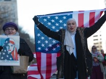 Protesters Rally Against Muslim Immigration Ban