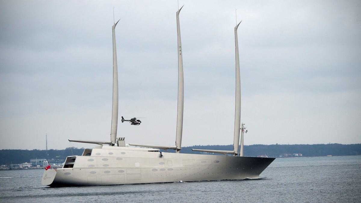 Modernste yacht der welt  Kiel: Größte Segelyacht der Welt sticht in See - Panorama ...