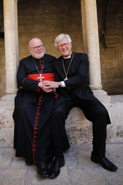 Kardinal Marx (links) und Landesbischof Bedford-Strohm. (Foto: Corinna Kern/dpa)