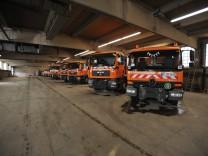 Spezialfahrzeuge der Straßenreinigung in München, 2012