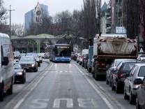 Busspur Leopoldstraße südlich Münchner Freiheit