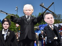 Opposition march in defence of democracy in Warsaw