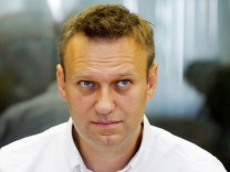 FILE PHOTO: Russian anti-corruption campaigner and opposition figure Navalny attends hearing at Lublinsky district court in Moscow