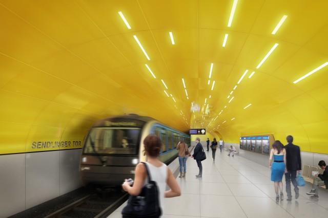 Simulation Bahnsteig U1 U2  Ende- Sendlinger Tor - U-Bahn