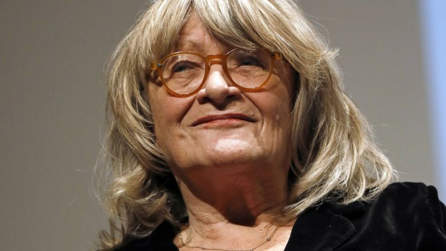 Alice Schwarzer bei einem Podiumsgespräch im Rahmen der Vortragsreihe Sexualität & Recht in der Aula
