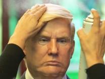 Wachsfigur von Trump in Mexiko-Stadt; Trump_imitator