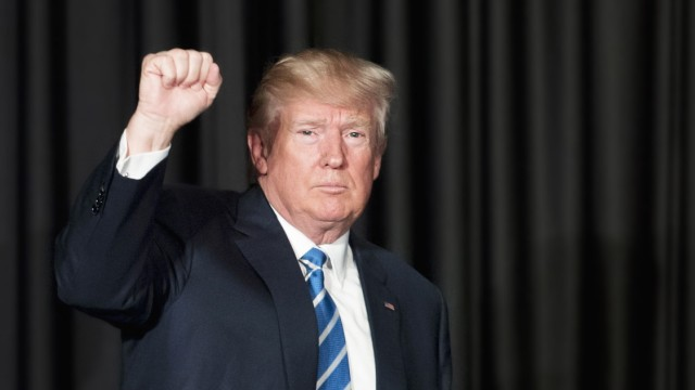 US President Donald Trump speaks at the MCCA Winter Conference