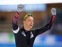 Eisschnelllauf Berlin 29 01 2017 Saison 2016 2017 Weltcup 1000 m Herren Männer Nico Ihle GER Jub; Nico Ihle