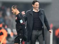 Fussball 1 BL Saison 2016 2017 Spieltag 20 Bayer 04 Leverkusen Eintracht Frankfurt Bayarena Le