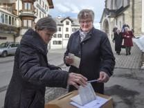 Volksabstimmung in der Schweiz
