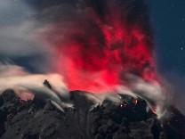 Sinabung Vulkan in Indonesien