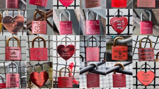 Wenn Liebesschlösser zur Last werden - Kommunen greifen ein