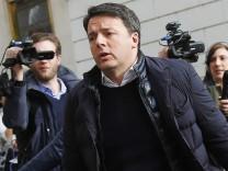Partito Democratico Treffen in Rom Matteo Renzi Roma 13 02 2017 Direzione del Partito Democratico R