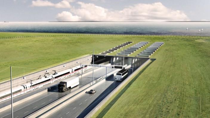 Geplanter Fehmarnbelt-Tunnel