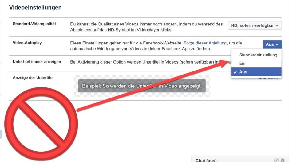 Autoplay-Sound bei Facebook deaktivieren